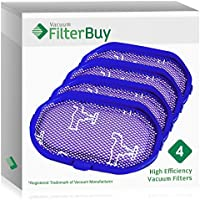 4 - FilterBuy Dyson DC30 (DC-30) Pre Motor Replacement Filters, Part # 917066-02. Designed by FilterBuy to be Compatible with Dyson DC31 & DC34 Series Handheld Vacuum Cleaners.