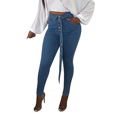 53684d9bc0ef LAEMILIA Jean Slim Femme Pantalon Leggings Skinny Taille Haute Moulant Ceinture  Elastique Automne Hiver  Amazon.fr  Vêtements et accessoires