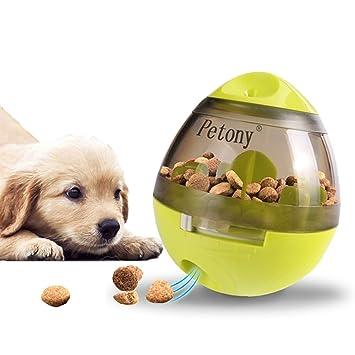 Petony Pelota de Comida para Perro, dispensador de Alimentos, Juguetes interactivos, Bola de