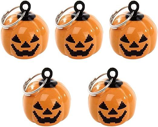 SUPVOX 20pcs Mini Pumpkin Bells Head Jingle Beads DIY Halloween Decorations Ornament Jewelry Findings Charms Pendant-Orange