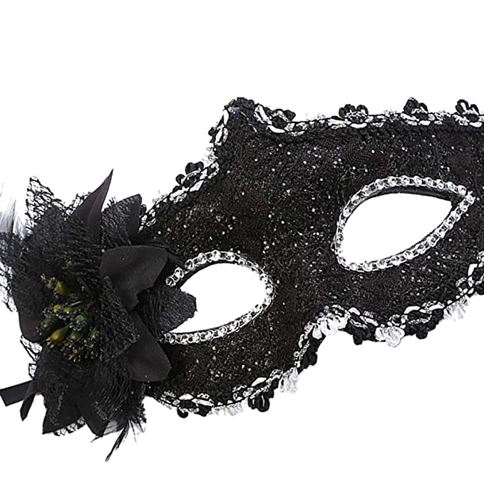 Green, Brown, Black, Red, Burgundy 6 x Venetian Style Masquerade Party Mask
