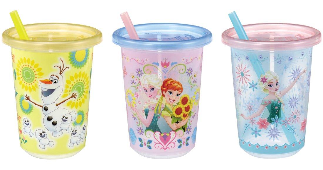 Disney Fan Fan Party Straw Cup Frozen Surprise Set