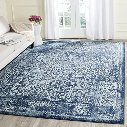 Safavieh Evoke Collection EVK256A Vintage Oriental Navy and Ivory Area Rug (10' x 14') (Area 10 Rug X 14)
