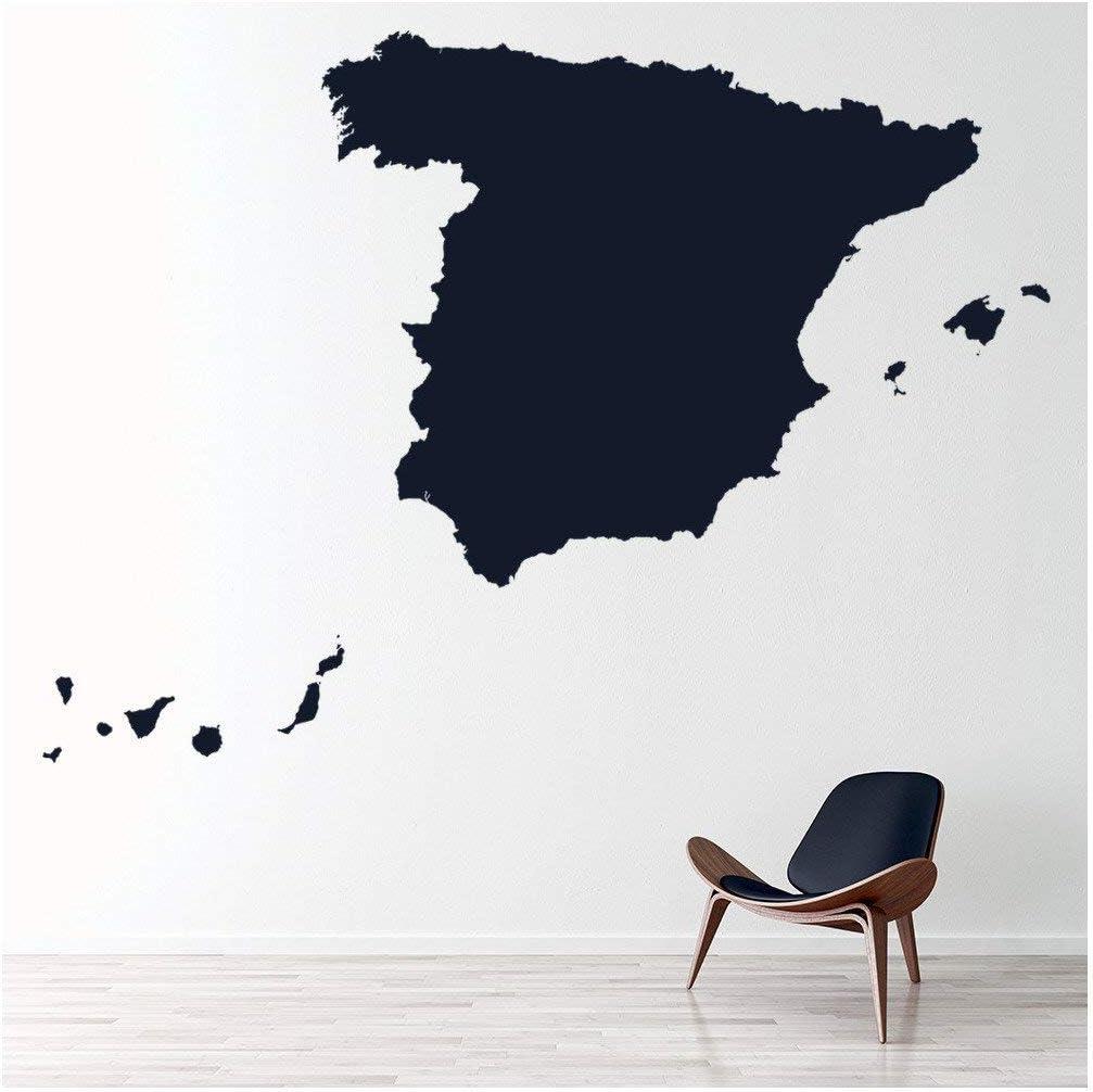 azutura Mapa de España Vinilos Educativo Pegatina Decorativos ...