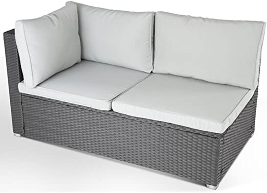 SSITG - Sofá de polirratán para esquina, sofá de jardín, muebles ...