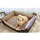 NEO Home PU Leather Corn Kernels,Washable Ultra-Soft Cuddle Dog Bed,Detachable and Removable for Easy Care ,Different Sizes Available.