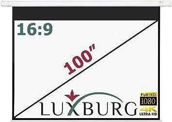 Luxburg® Pantalla de proyección 221 x 125 cm (Diagonal aprox. 100 ...