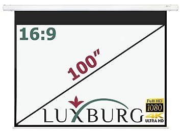 Luxburg® Pantalla de proyección a motorizada 221x125 cm (Diagonal ...