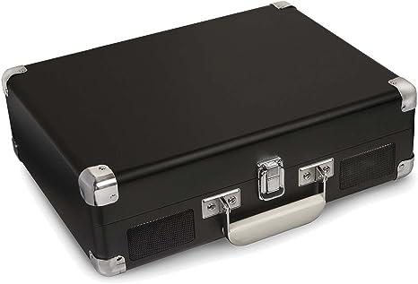 Crosley Cruiser - Tocadiscos portátil de 3 velocidades, Color Negro (Pizarra)