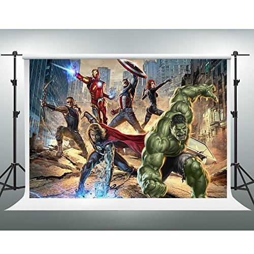 GESEN 7X5ft The Avengers Backdrop American Sci-fi Action