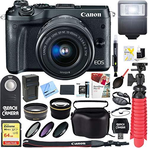 Canon M6 EOS 24.2MP Mirrorless Digital Camera with EF-M 15-4