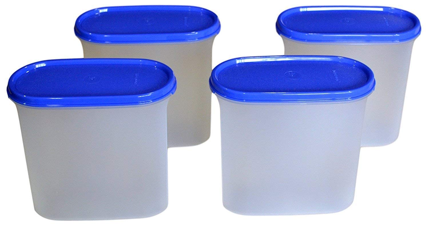 Tupperware Modular Mates Oval 3 Container Set, 1.7 Litres, 4-Pieces