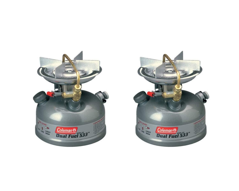 Coleman Sportster II Dual Fuel 1-Burner Stove (Coleman Green, 2 Count)