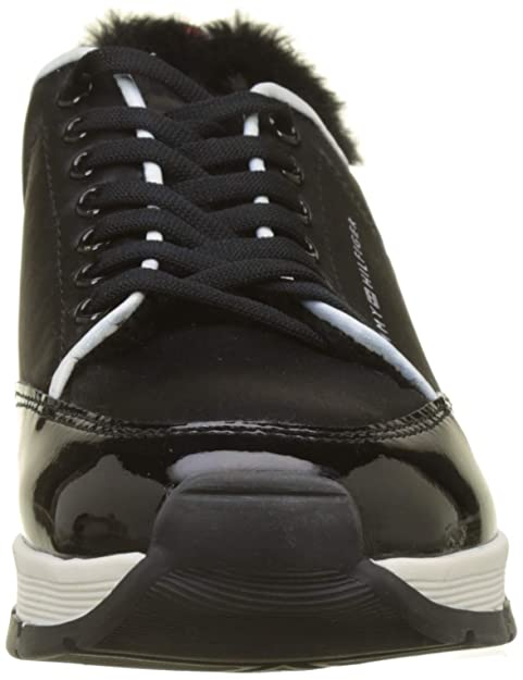 b79cc894c Tommy Hilfiger Women s s Cool Technical Satin Sneaker Low-Top   Amazon.co.uk  Shoes   Bags