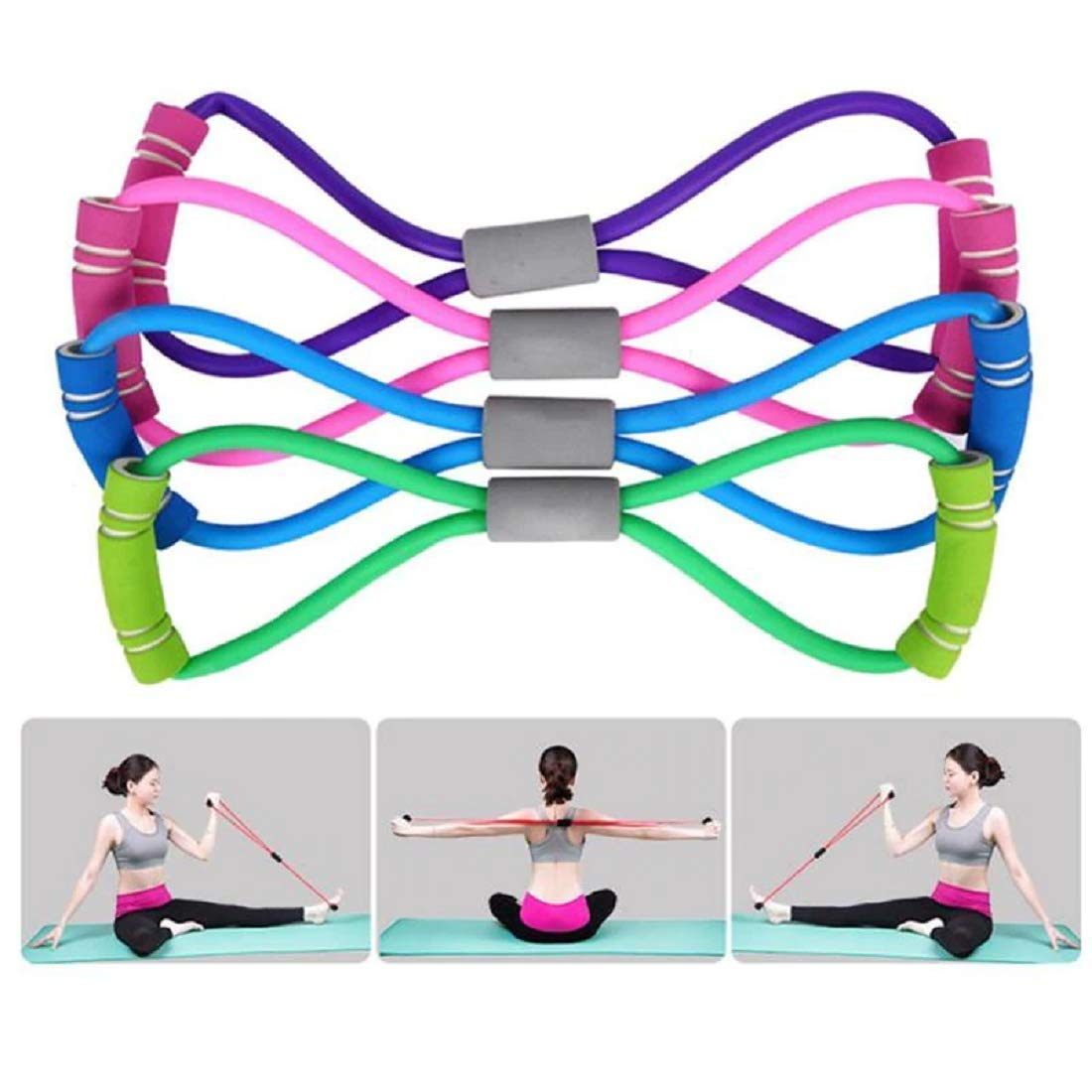 Amazon Com Gym Word Elastic Band Chest Developer Rubber Expander