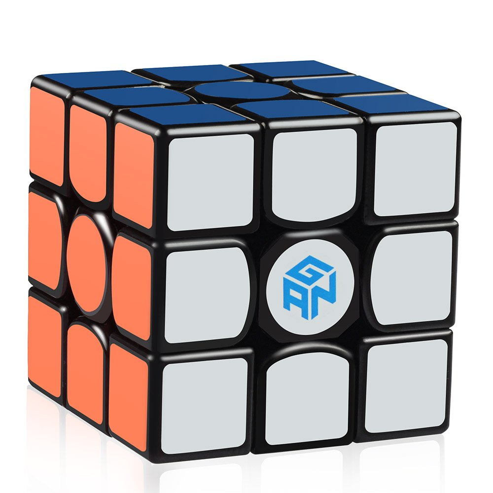 Amazon com d fantix gans 356 air master 3x3 speed cube gan 356 air 3x3x3 speed cube magic cube puzzles black with new blue cores toys games
