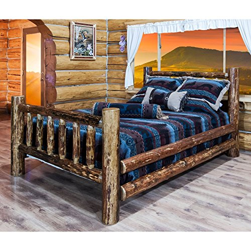 Montana Woodworks MWGCSBK Bed with Storage, King (King Log Bed)