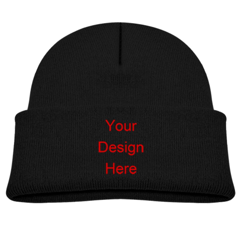 Amazon.com  Custom Printed Hats Personalized Baby Hats Knit Beanie Hat  Designer Beanie Hats Kids Winter Hats Kids Knitted Hat (Black)  Clothing ce52b5979f7