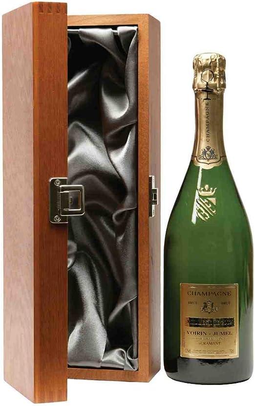 Estuche regalo para botella de whisky (madera de olmo, con forro de seda): Amazon.es: Hogar