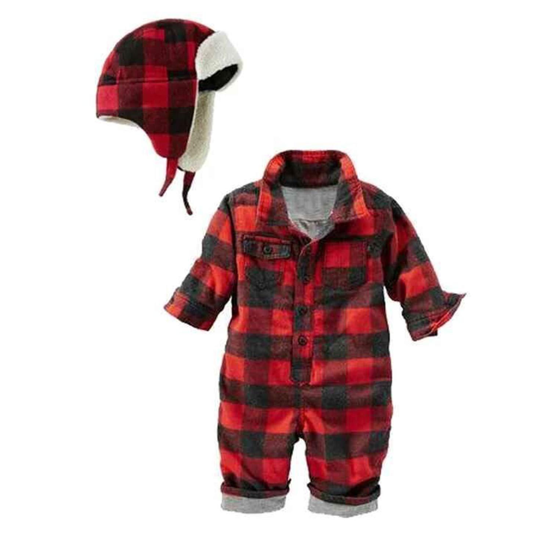 hat Fashion Newborn Rompers Bebes Baby boy Romper Newborn Clothes