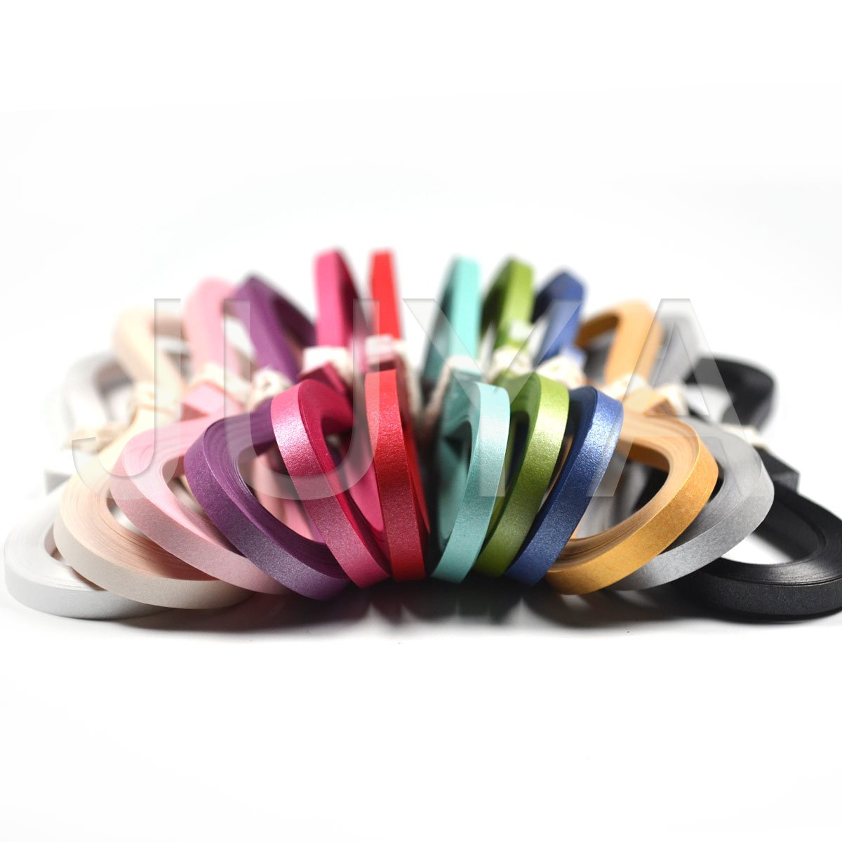 JUYA Metallic Paper Quilling Set 2//3//5//7//10mm Width Available 24 Colors, Paper Width 2mm