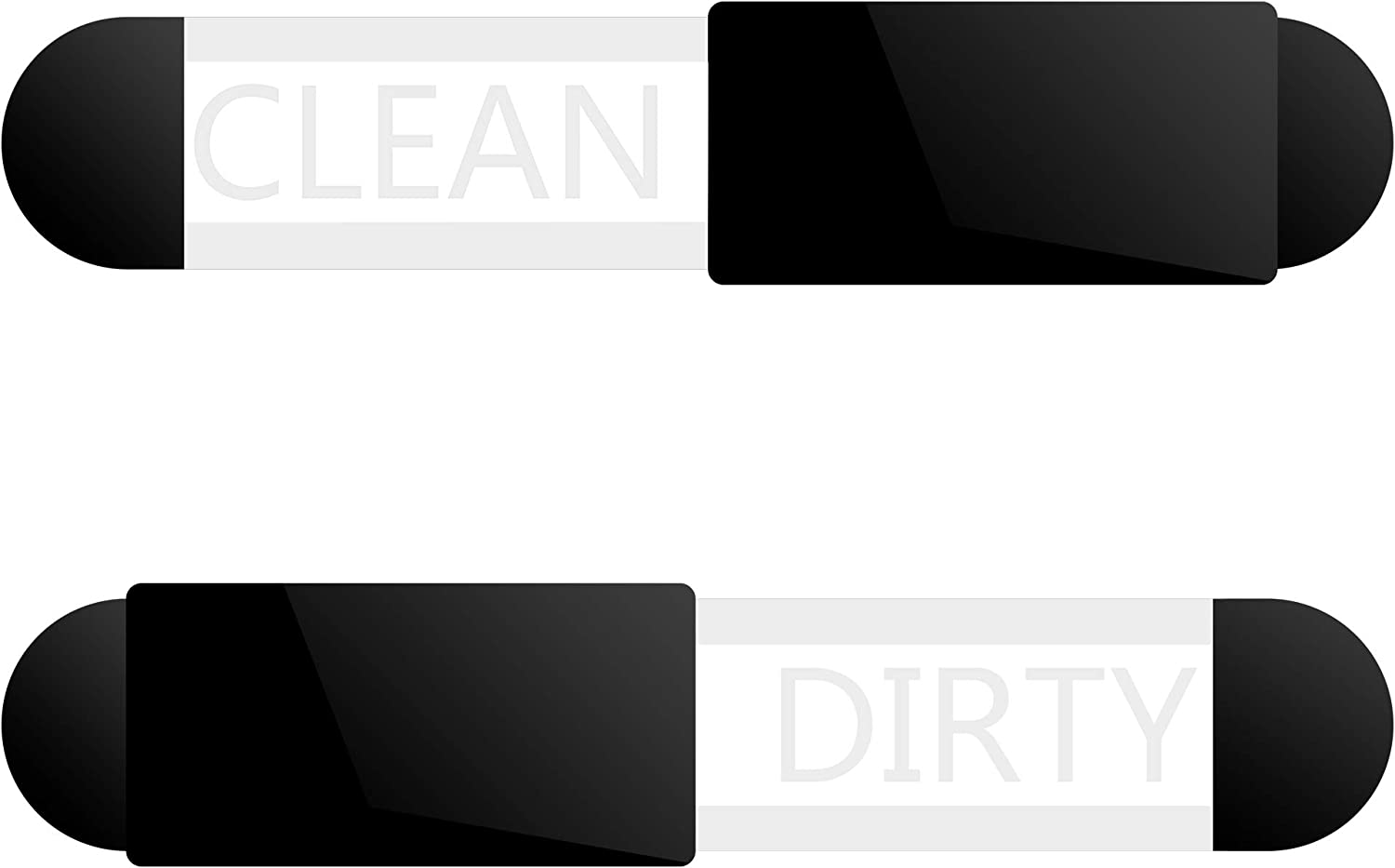 Beautyflier Clean Dirty Dishwasher Acrylic Clean or Dirty Indicator Sign with 3M Adhesive Tab Glide Design for Home Kitchen Office Use
