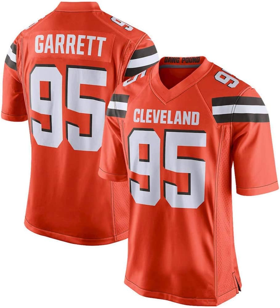 Cleveland Browns 95 Football Sportswear Camiseta de Manga Corta Deportiva NBJBK NFL Rugby Jersey