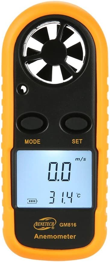 autom/óvil oficina etc. Anem/ómetro Gm818 Lcd Anem/ómetro digital Medidor de velocidad del viento de mano Medidor de velocidad del aire Medidor de velocidad del aire en el hogar