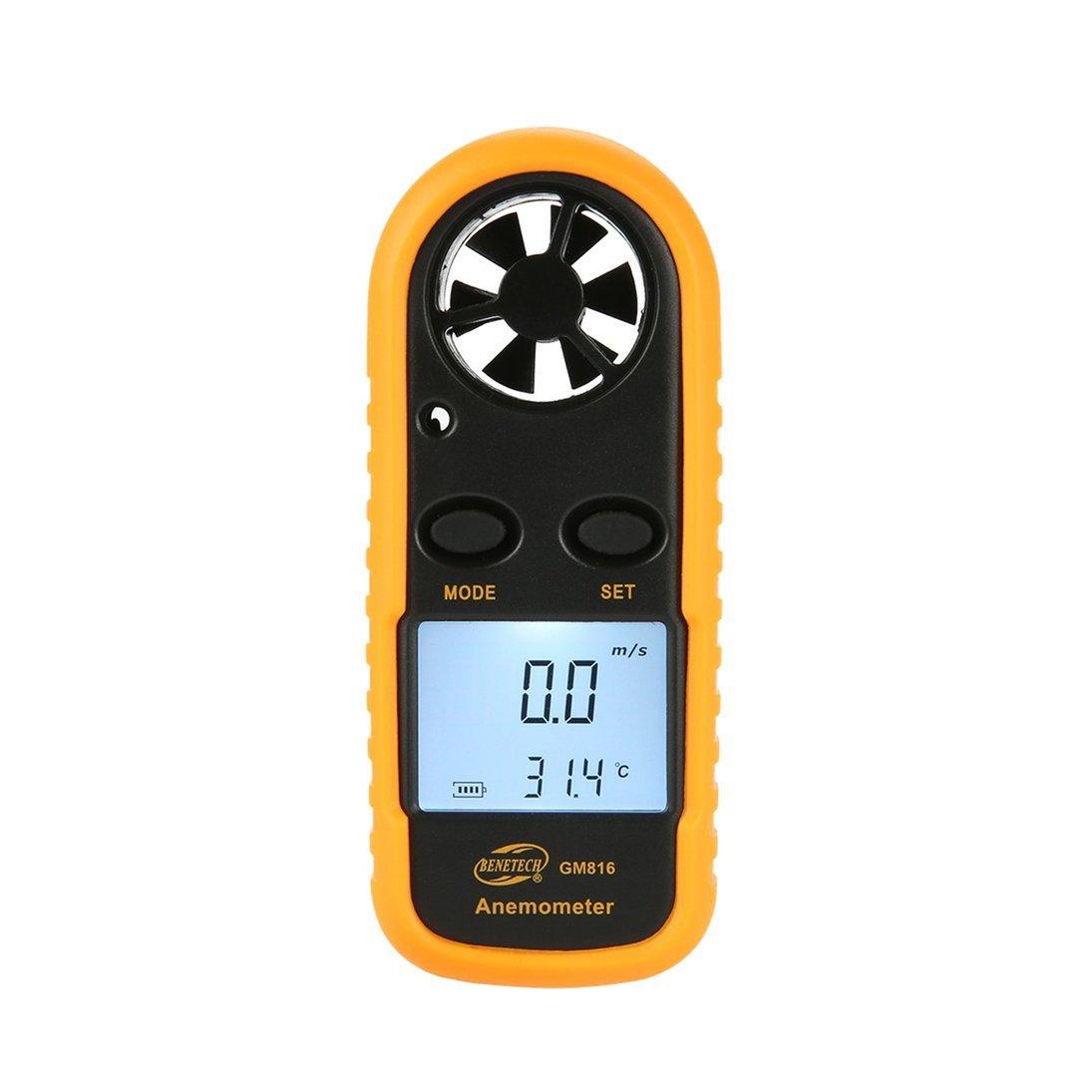 BENETECH GM816 Digital Anemómetro Termómetro Viento Medidor de Velocidad Medidor de Flujo de Aire ToGames-ES