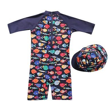 99425bfa2f74 bañador Manga Larga Protección Solar UV para niño bebé, Trajes de ...