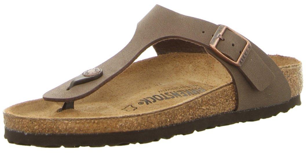 Gizeh (Women's) Cork-Footbed Flat Sandals in Mocha Brown [New Style] (39 M EU / 8-8.5 B(M) US Women)