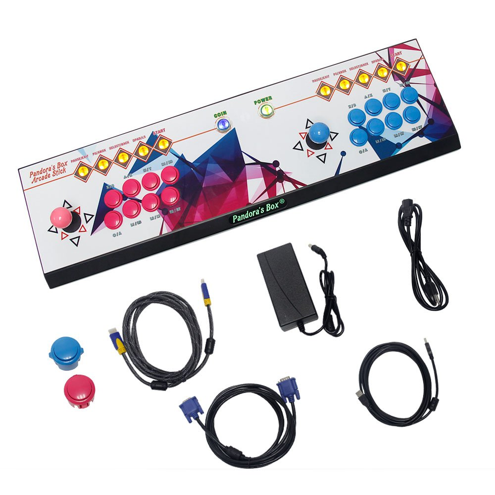 Wisamic Real Pandora's Box 6 Arcade Game Console - Add Additional Games, Support 3D Games, with Full HD, Games Classification, Upgraded CPU, Support PS3 PC TV 2 Players, No Games Included (8 Buttons) by Wisamic (Image #7)