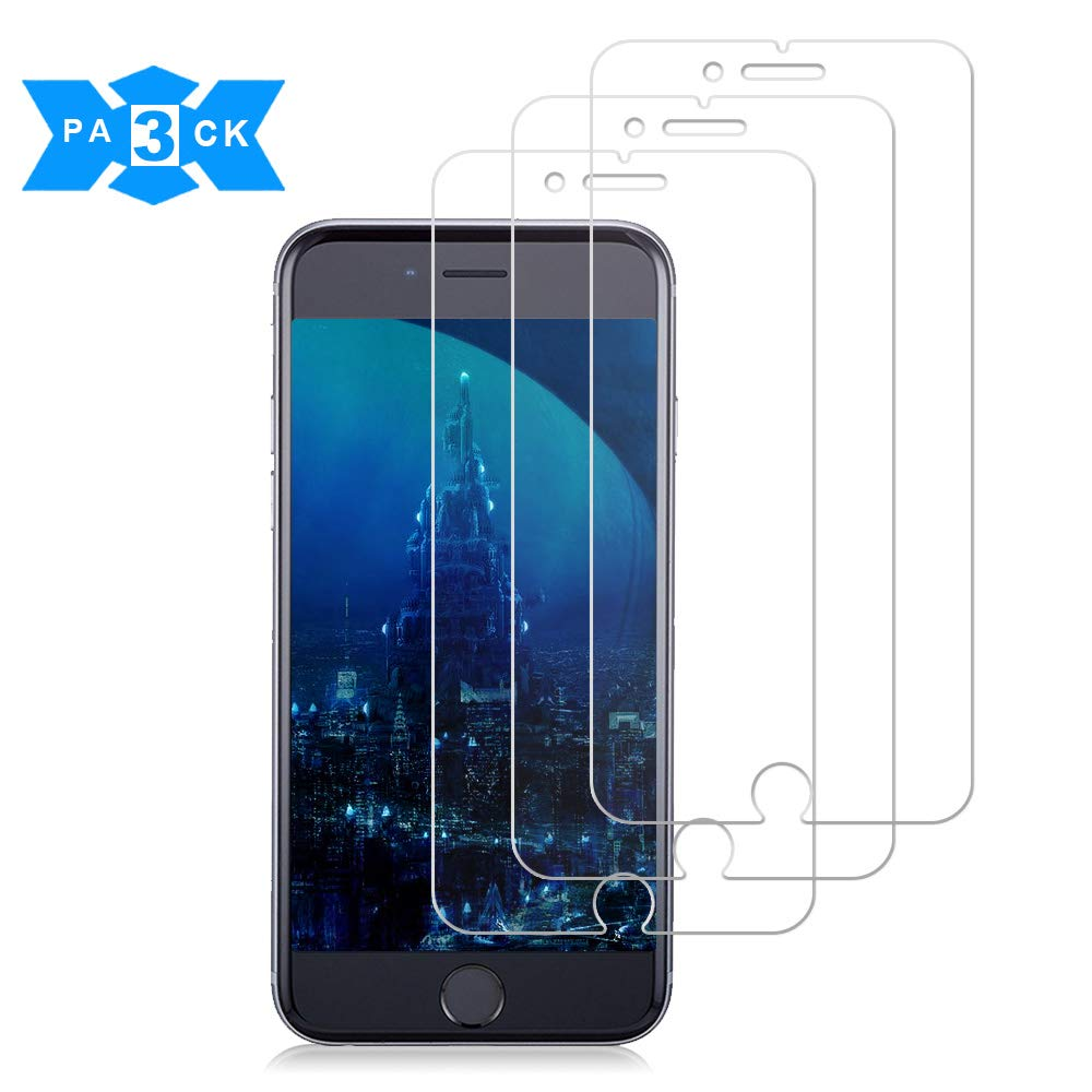 iPhone 8Plus/7Plus/6Plus/6s Plus Screen Protector, 3-Pack Live2PedalTempered Glass Screen Protector 3D Touch Clear Screen Protector Glass Film Compatible iPhone 8Plus/7Plus/6Plus/6s Plus