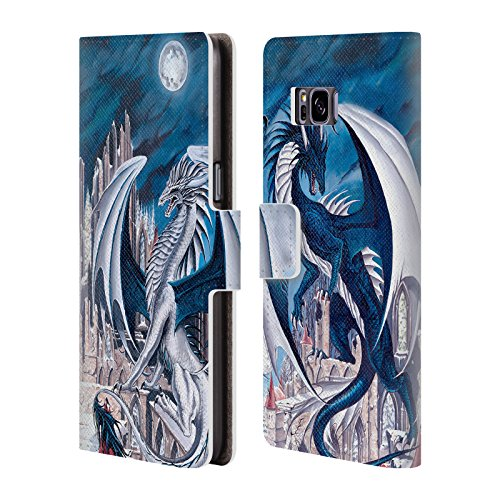 Official Ruth Thompson Solstice & Equinox Dragons 2 Leather Book Wallet Case Cover For Samsung Galaxy S8+ / S8 Plus Samsung Solstice Case Cover