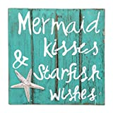 NOVICA Green Hand Made Wood Beach Sign, 'Mermaid Kisses' Review