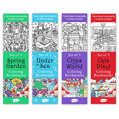 Re-marks Colormarks 4 Pack - Spring Garden, Under the Sea, Cities of the World, Cats at Play -