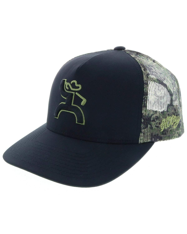 Hooey Men's Hooey Camo Golf Trucker Cap Black One Size