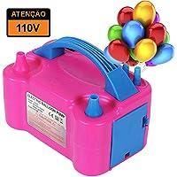 Compressor Máquina para Encher Balões e Bexigas Inflador Automático Touch 2 Bicos 110V
