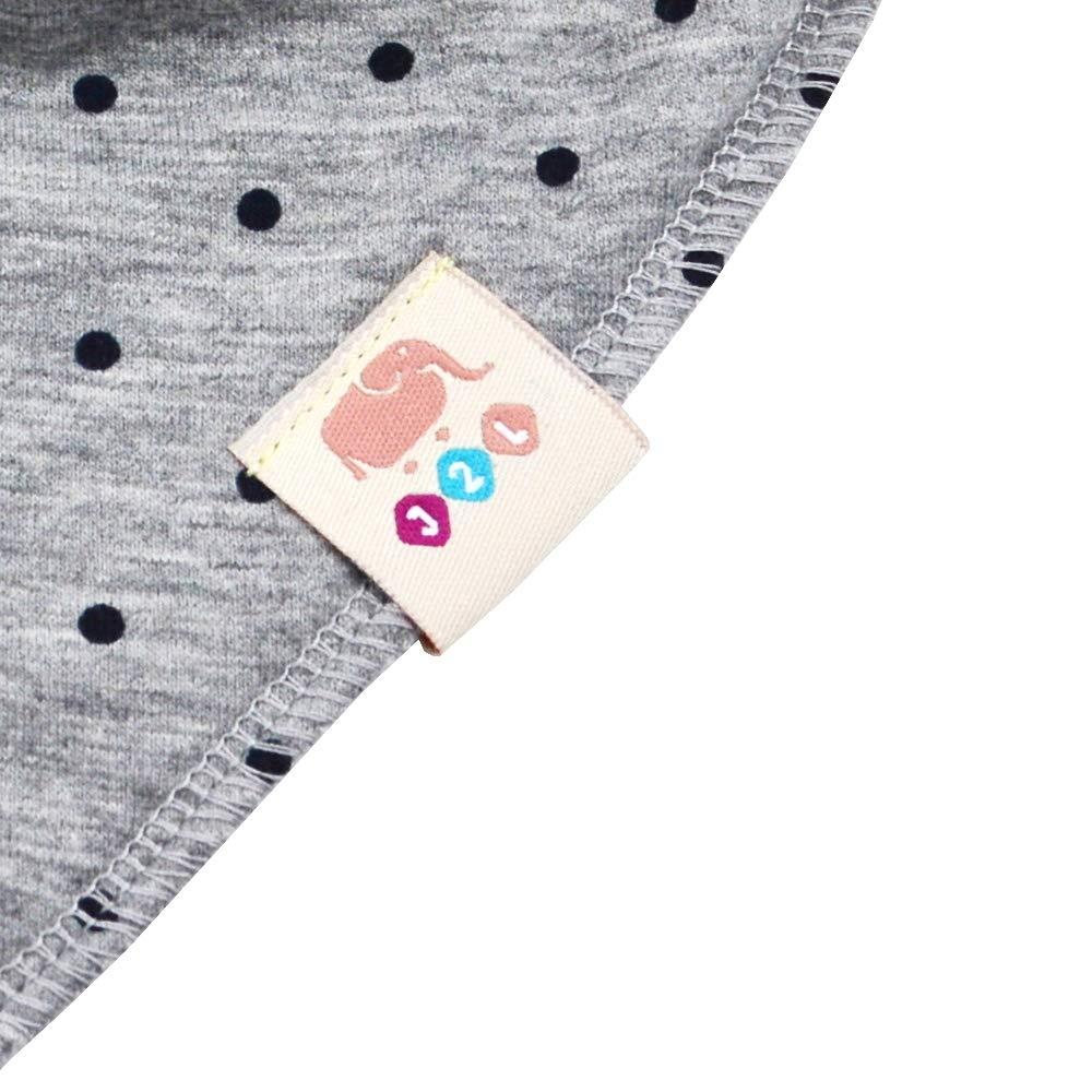 Baby Dreieckst/ücher 4 St/ück Halstuch s/ü/ße unisex aus Baumwolle mit verstellbaren Druckkn/öpfen Spucktuch L/ätzchen f/ür Kleinkinder Jungen und M/ädchen M/ädchen Set