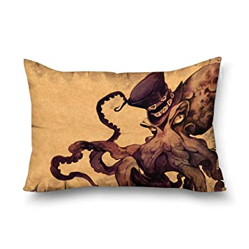 Amazon.com: InterestPrint Trippy Nautical Mandala con pulpo ...
