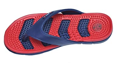 475cde4ae93e APL Men s Health Blue and Red Flip Flops and House Slippers (Max Health) (