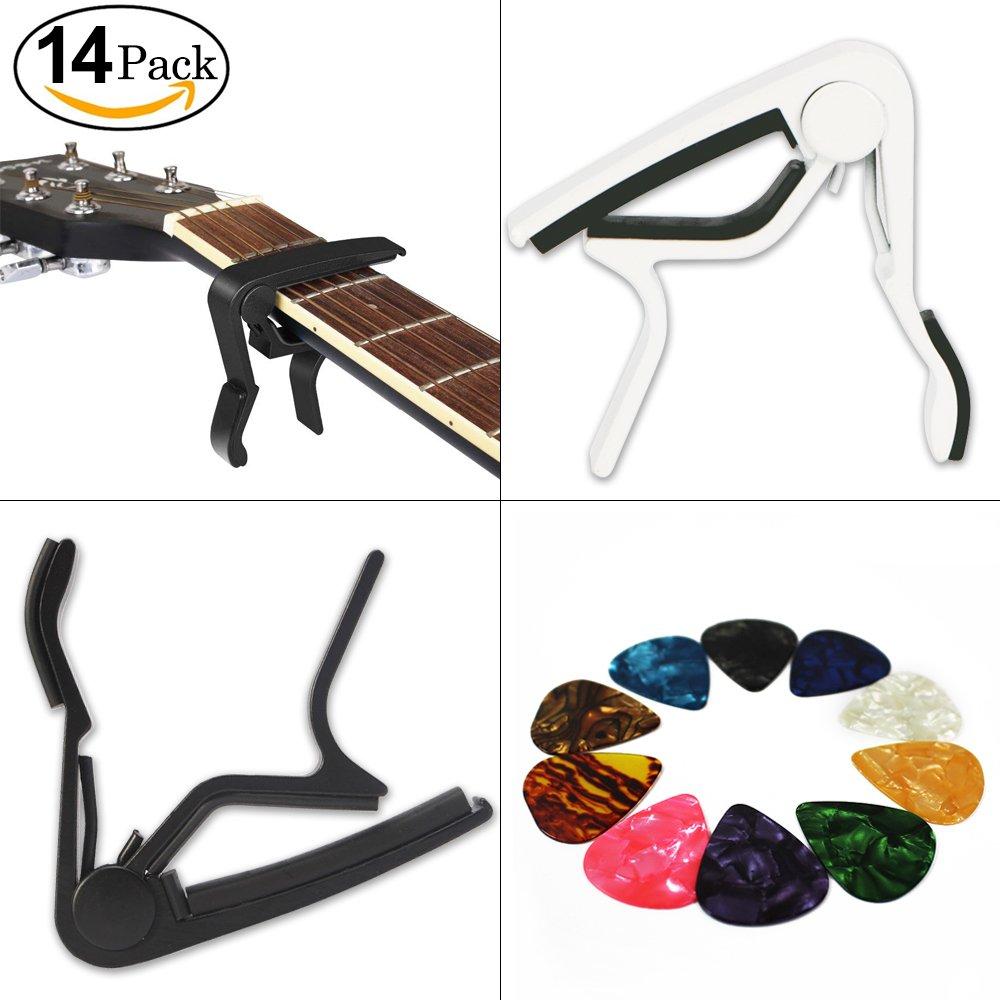 2PCS Cejilla Guitarra Capo Yolistar Para Guitarra ElectrÓNica ClÁSica AcÚStica AleaciÓN De Aluminio Fácil De Poner