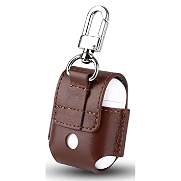 VAN-LUCKY Leather Case for Apple Airpods Air Pods Protective Cover Pouch Anti Lost Protector Elegant Sleeve Fundas Accessories: Amazon.es: Deportes y aire ...