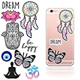 iDecoz DR345D Dream Reusable Vinyl Decal Sticker Sheet for All Cell Phones/Cases/iPhone 7/7 Plus/6/6 Plus/6S/6S Plus/Se/5S/5C/5/Galaxy/MacBook/Laptop iPad Car Wall and More