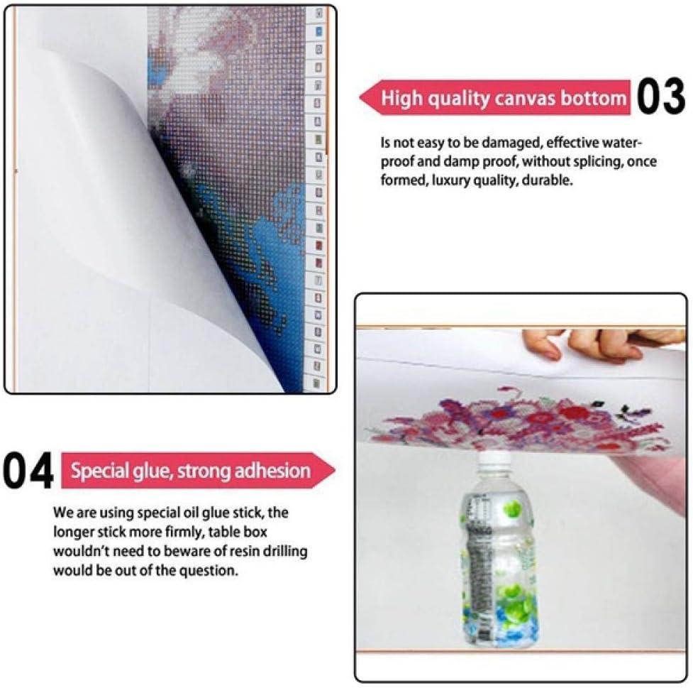 DIY 5D handmade cross stitchbathroom diamond embroidery diamond painting set round diamond rhinestone creative home decoration crafts