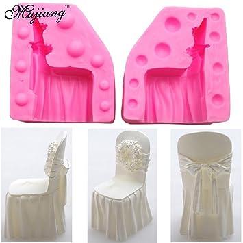 Star Trade Inc - Silla de boda 3D, silicona, moldes de jabón para vela