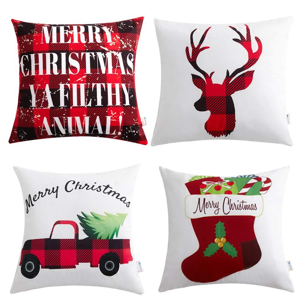 Amazon.com: Anickal Christmas Holiday Decorations Christmas Red and ...