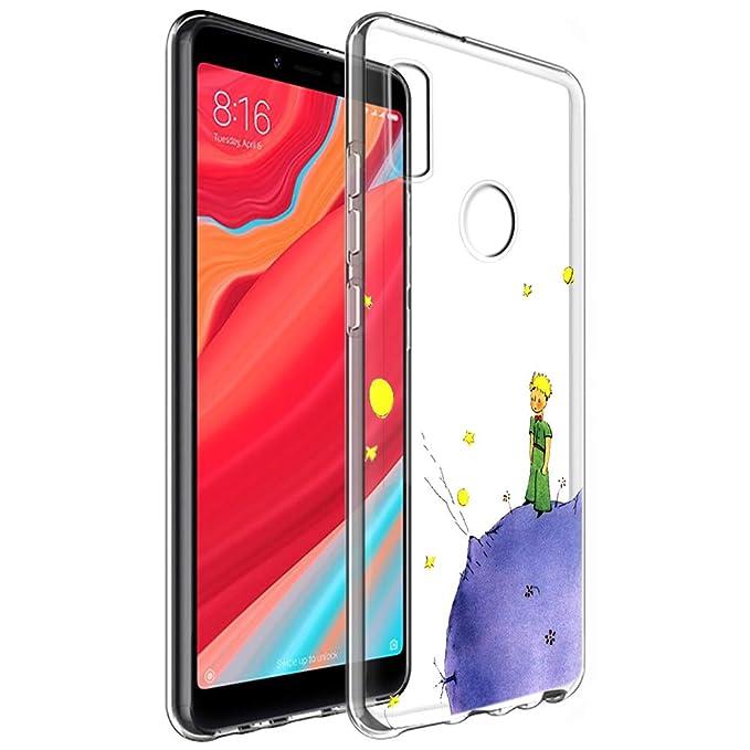 YOEDGE Funda Xiaomi Mi A2 Ultra Slim Cárcasa Silicona Transparente con Dibujos Animados Diseño Patrón [El Principito] Resistente Bumper Case Cover para ...
