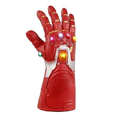 Superhero LED Infinity Gauntlet Glove Cosplay Halloween Props Toy: Clothing