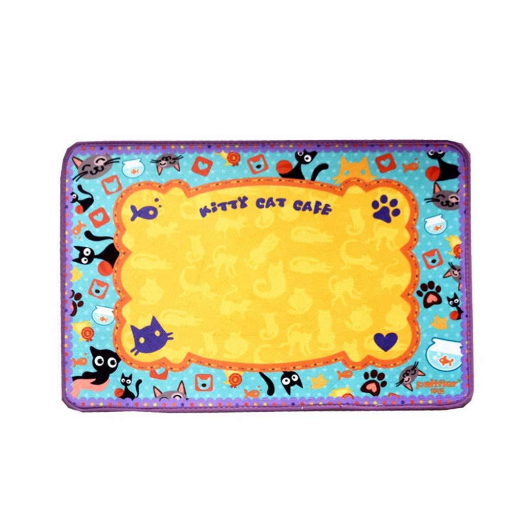 5 Jim Hugh Pet Products Crystal Velvet Cat Dog Blanket Autumn Winter Feed Mat Mat Dog Bowls